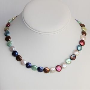 Multi-Colored Fresh Water Cultured Pearl Necklace